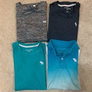 Bundle Lot of 4 Boys Abercrombie Tees T-shirts